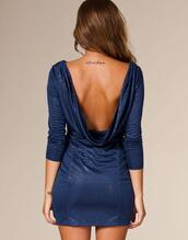 dress,open back,blue,sparkle,short dress,cute