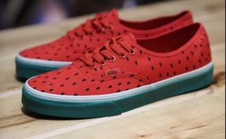 shoes vans sneakers watermelon vans