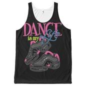 tank top,imgeeeis my life all-over print tank top,imgeee,dance,dance top,hip hop shirt,hip hop dance,bgirl,full print tank top,black,hip hop,music,breakdance