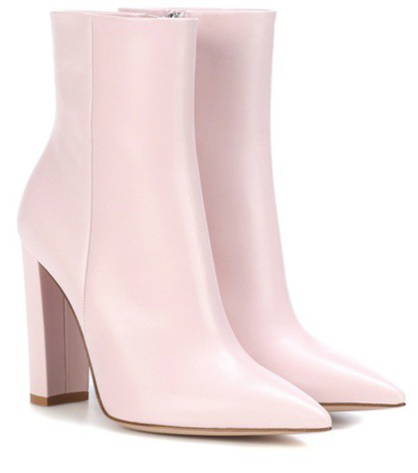 Gianvito Rossi Piper leather ankle boots in pink