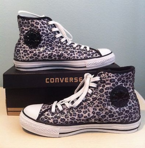 reputable site 20822 78f87 shoes leopard print sequins converse