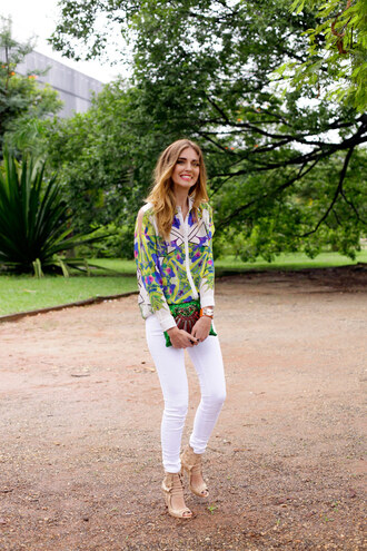 the blonde salad shoes jeans shirt jewels bag blogger fashion style classy