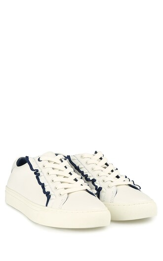 ruffle sneakers leather shoes