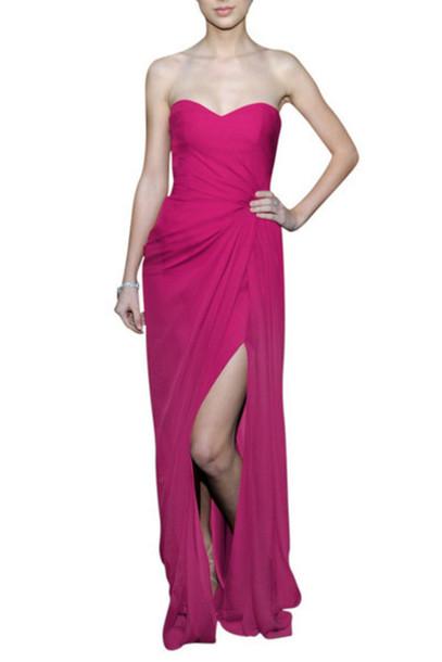 dress pink evening dress long formal dress elliot claire london