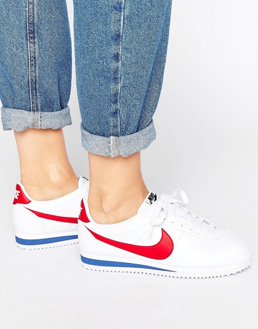 buy online 4eb26 a8680 Nike Classic Cortez Trainers In Retro Leather at asos.com