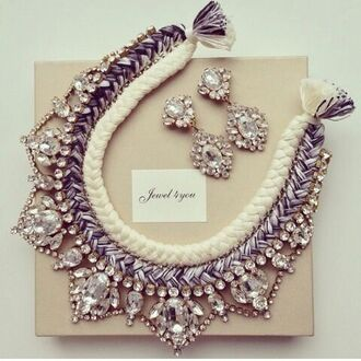 jewels necklace earrings jewelry statement necklace silver earrings jewerly silver crystal earrings crystal sparkle glitter diamonds long dress slit grad dress jewelry bracelets