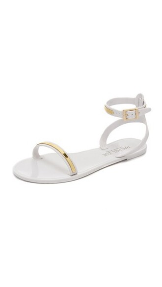 sandals flat sandals white shoes
