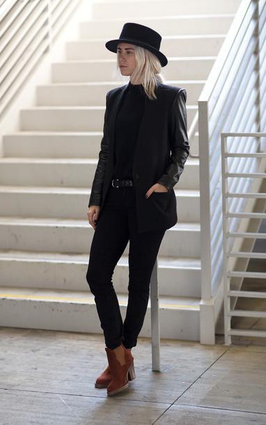 always judging blogger hat black jacket