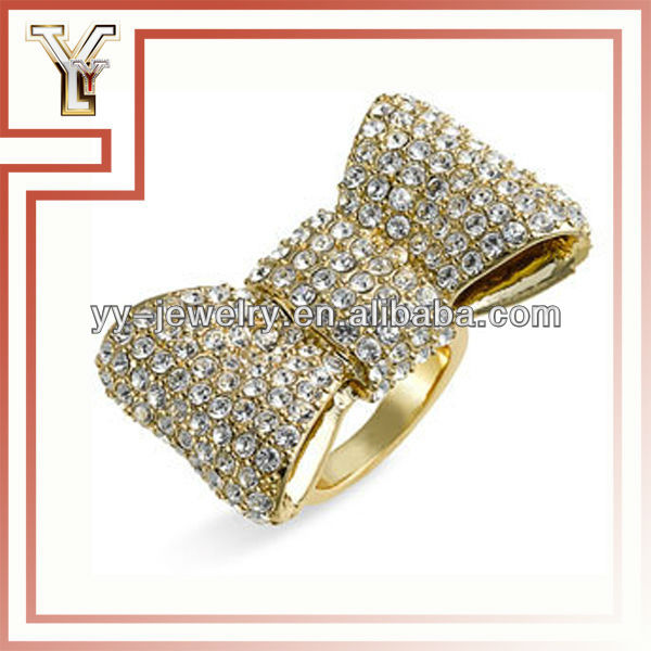Studded Rhinestone Bow Ring - Buy Bow Ring,Studded Bow Ring,Rhinestone Bow Ring Product on Alibaba.com