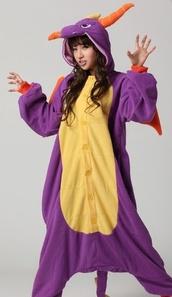 dragon,purple,costume,coat