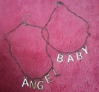 jewels angel baby necklace silver necklace silver