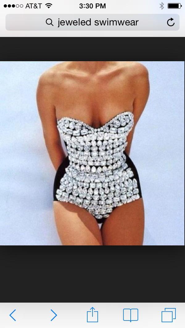 swimwear jeweled swimwear