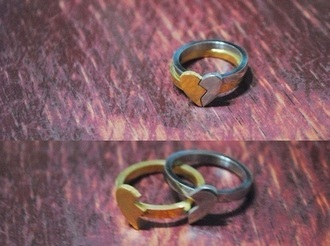 jewels silver gold ring couple couple rings tumblr love tumblr rings ring set