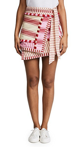 skirt pink red
