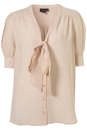 d0f64ad728 Cream Short Sleeve Pussybow Blouse - Tops - Clothing - Topshop