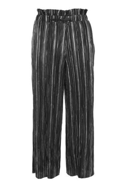 Topshop pants metallic black
