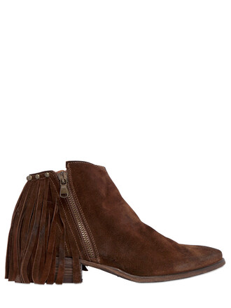 suede ankle boots zip boots ankle boots suede brown shoes