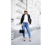 victoria tornegren,blogger,jeans,jacket,t-shirt,shoes,bag