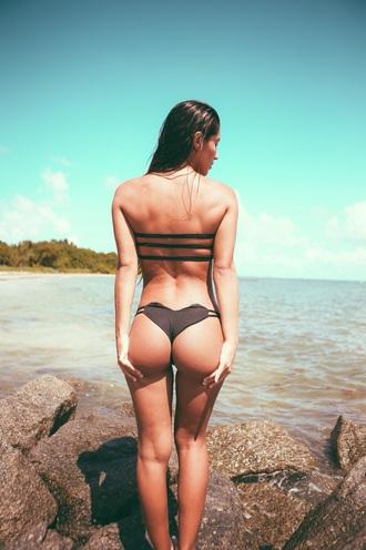 swimwear black swimwear bikini