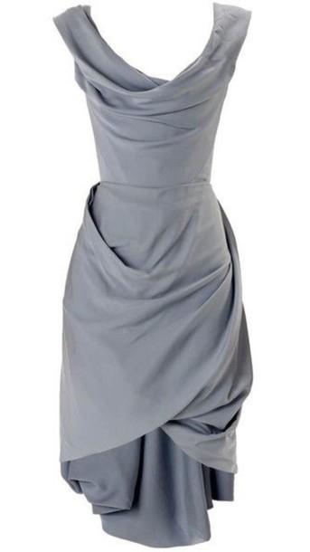 dress grey dress layered dress vivienne westwood greek goddess