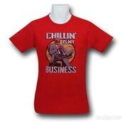 shirt,chillin,badass,red,anti-hero,hero,office outfits,black,wadewilson,deadpool