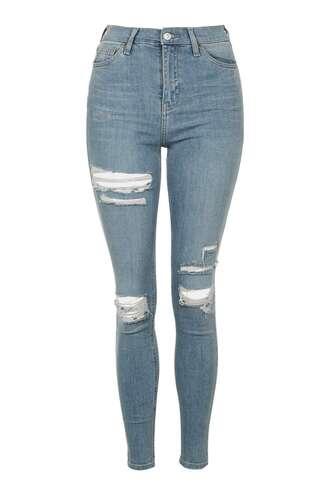 jeans denim topshop clothes skinny jeans distressed denim