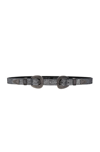 metallic belt silver