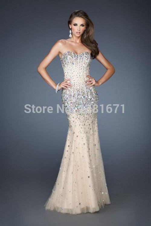 Aliexpress.com : buy new arrival popular sexy sweetheart floor lenghth beads crystal evening dress 2014 from reliable crystal dress suppliers on aojia top evening dress