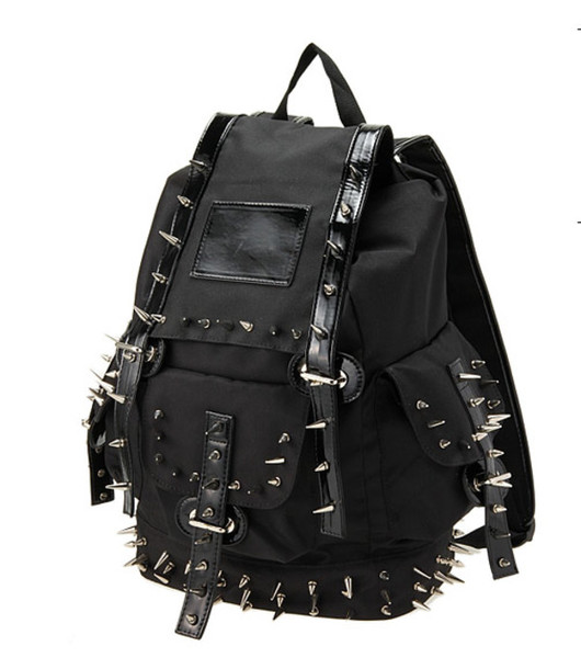 Bag: backpack, spikes, black, alternative, studs, leather, tumblr ...
