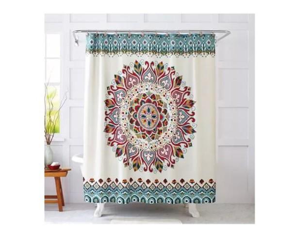 Home Accessory Shower Curtain Mandala Boho Bathroom Decor