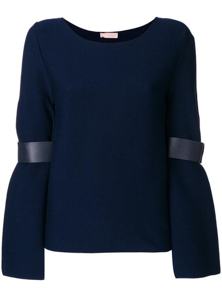 top women blue wool