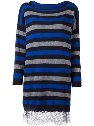 dress maxi women blue wool