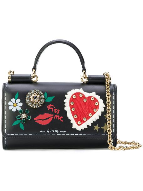Dolce & Gabbana mini style women bag leather black