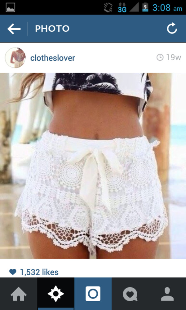 white lace shorts dress colorful shorts summer