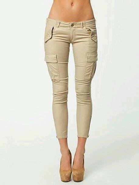 pants cargo pants beige pants cargo pants