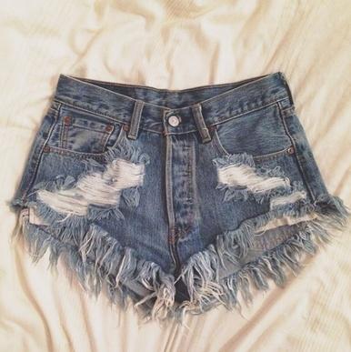 Original 320 Destroyed Shorts - Arad Denim
