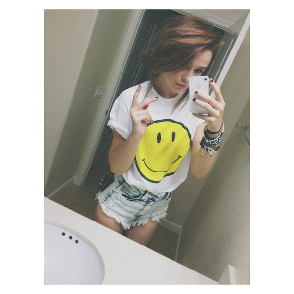 shirt smiley jewels t-shirt tank top shorts pants blouse jeans acacia brinley peace