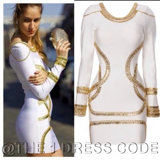 dress love and hiphop bandage dress kim kardashian white dress gold jewelry quality white bodycon midi dress