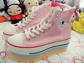 shoes,kawaii,platform shoes,japanese fashion