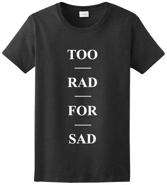 t-shirt graphic tee rad sad grunge t-shirt tumblr shirt