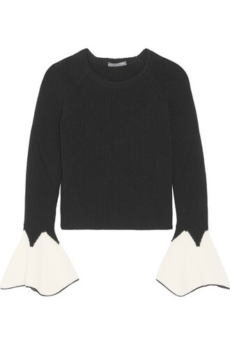 sweater wool sweater black wool