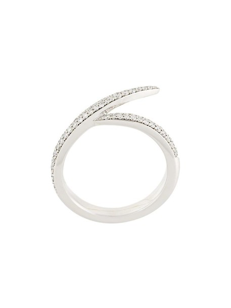 SHAUN LEANE women ring gold white grey metallic jewels