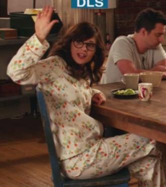 pajamas new girl zooey deschanel
