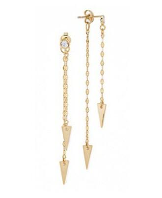 jewels gold earrings gold arrow earrings arrow arrows arrow jewelry tai tai jewelry hanging earrings dangling earrings drop earrings