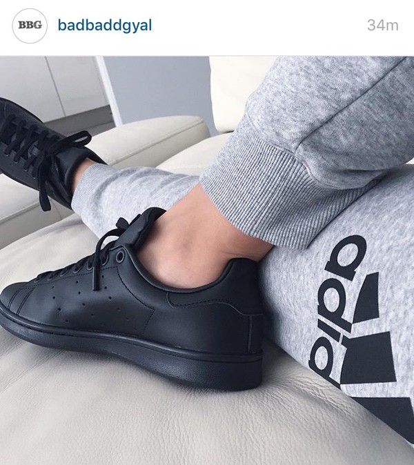 412a8fa2faf1b shoes adidas adidas superstars all black everything black stan smith.