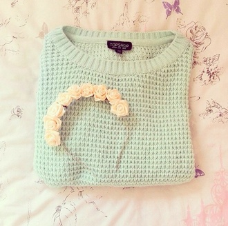 sweater soft knit hat green sweater