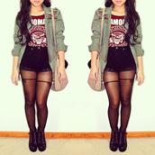 t-shirt,the ramones shirt,underwear,shorts,jacket