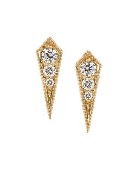 Lizzie Mandler Fine Jewelry women earrings stud earrings gold grey metallic jewels