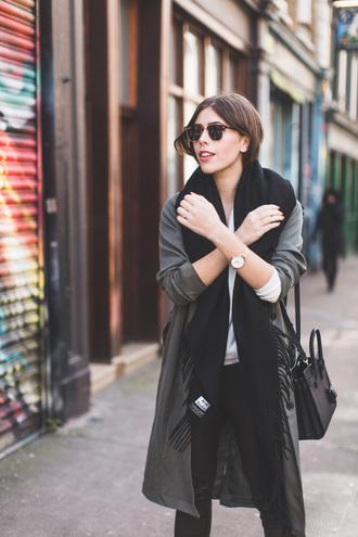 wish wish wish blogger coat sweater pants jewels bag shoes sunglasses