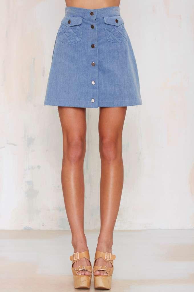 Vintage Free Bird Button-Down Skirt